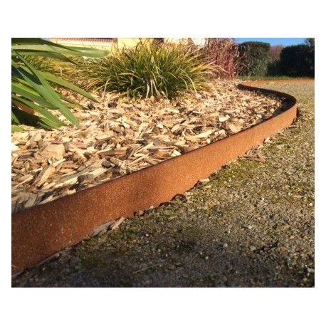 bordure jardin design aspect rouillé en acier corten pour ...
