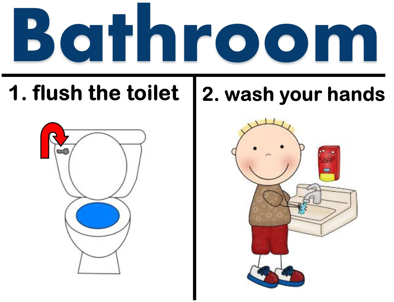 Do You Have A Bathroom In Your Classroom And Need A Visual Aid For A Reminder For The Students