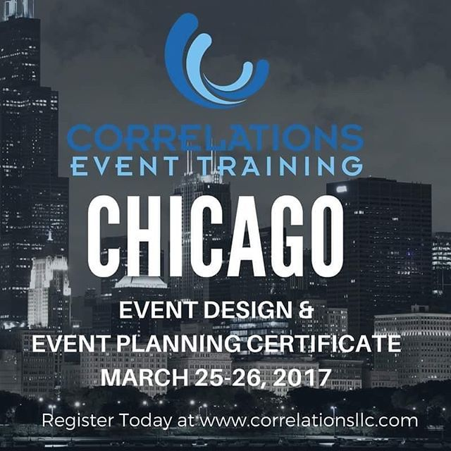 Chicago, Iu0027ll see you this month! I look forward to doing what I - event planning certificate
