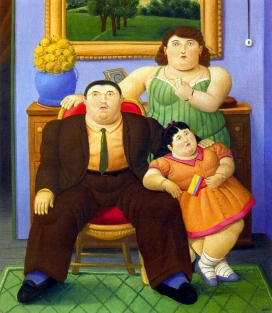 Botero. Familia Colombiana, would love to see his museum in Medellin