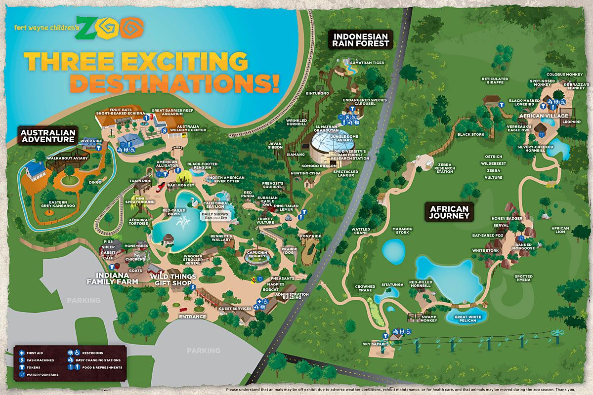 Fort Wayne Children's Zoo  http://www.kidszoo.org/wp-content/uploads/2011/12/2012ZooMap.jpg