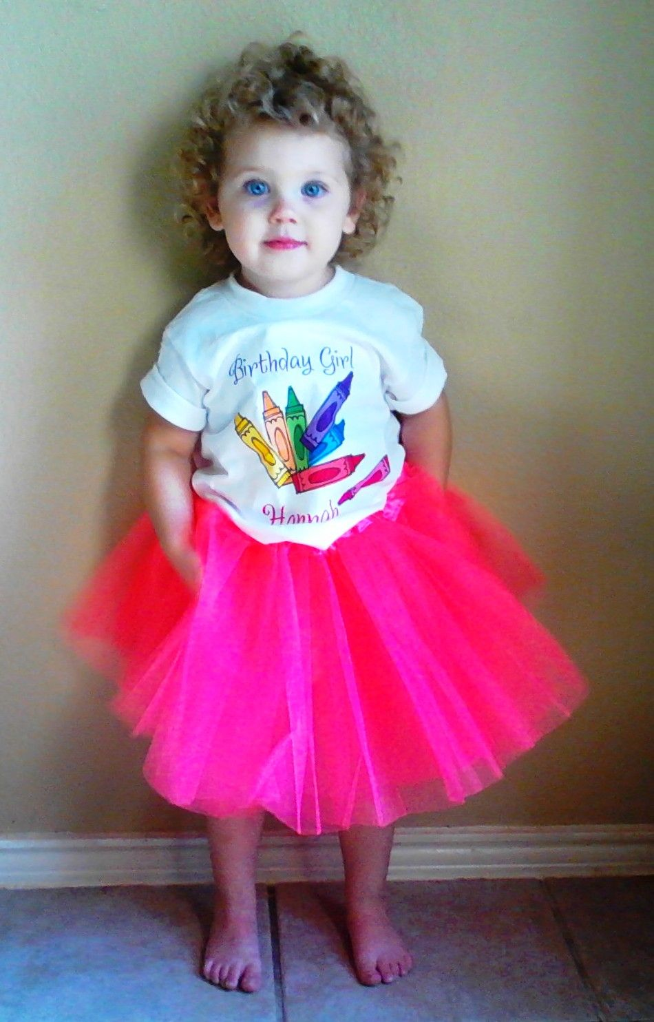 Crayola Or Crayon Themed Birthday Outfit For A 2 Year Old Purchased From The TuTu Fairy