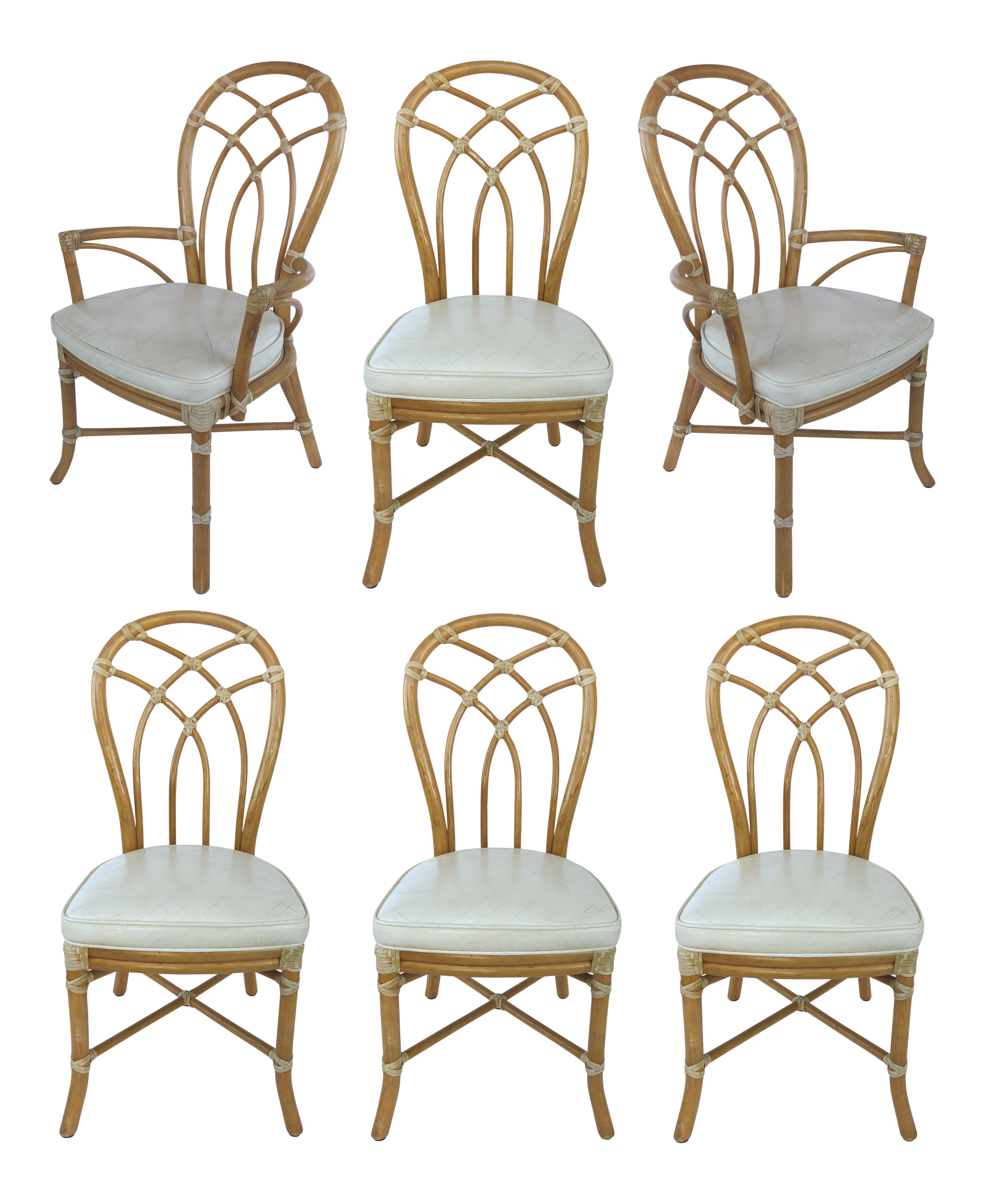 McGuire Rattan Dining Chairs- Set of 6 | Pinterest