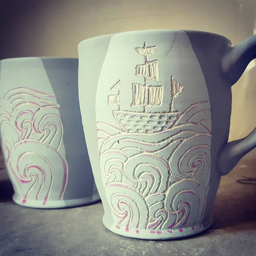 Loving This Sgraffito Regram Via Morelpottery Handmade Ceramics Surface Decoration Sgraffito