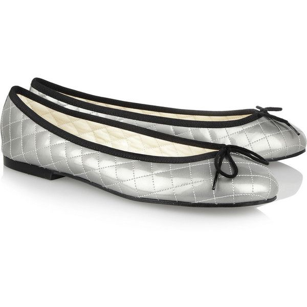 French Sole Quilted patent-leather ballet flats ($90) ❤ liked on ... : french sole quilted ballet flats - Adamdwight.com