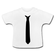 krawatte baby t-shirt  baby t-shirt with a black tie - also a great christmas outfit idea ;)