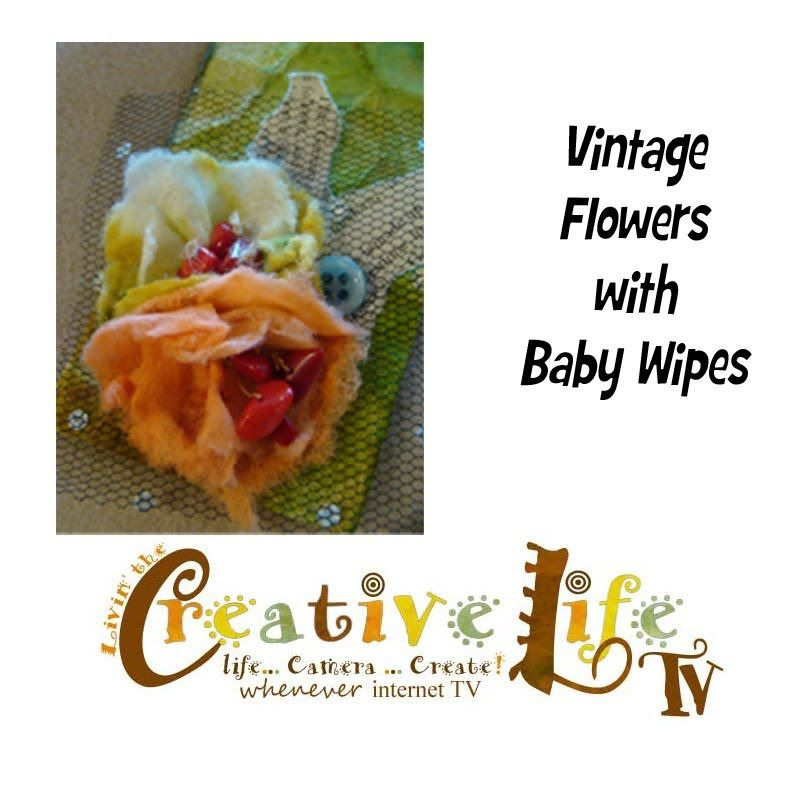 In this video, Linda Peterson shows how to stamp a shipping tag and make vintage inspired flowers from baby wipes. Featured on Creative Life TV. For more ide...