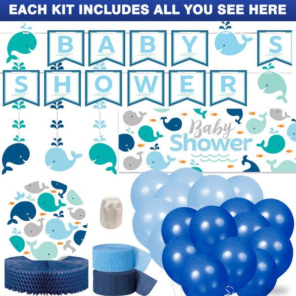 check out lilu0027 spout blue baby shower decoration kit baby whale blue tableware and