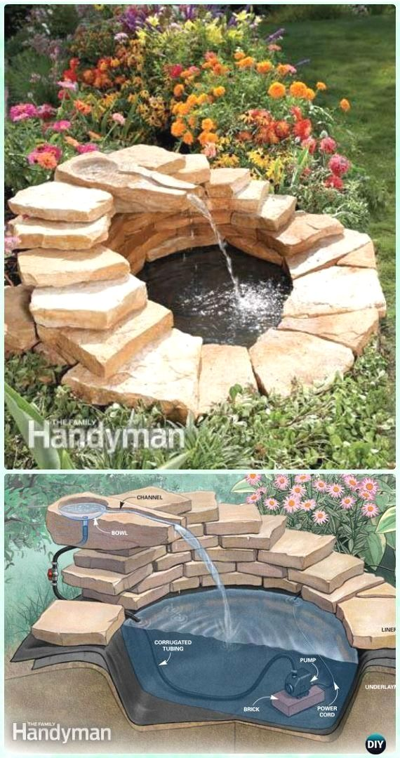 diy concrete fountain instruction diy fountain landscaping ideas