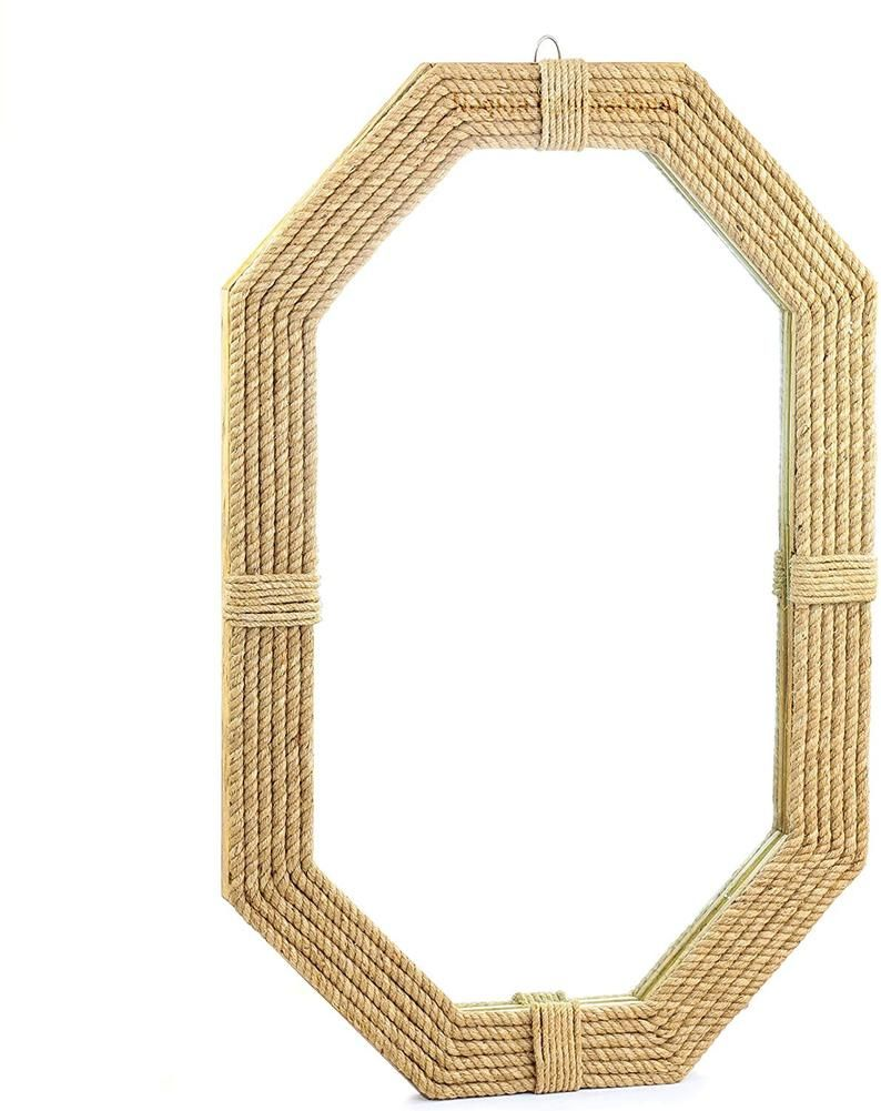Photo of Large Nautical Jute Mirror For Bathroom | Nautical Roped Wall Mirror Home Decor | Prime Decor