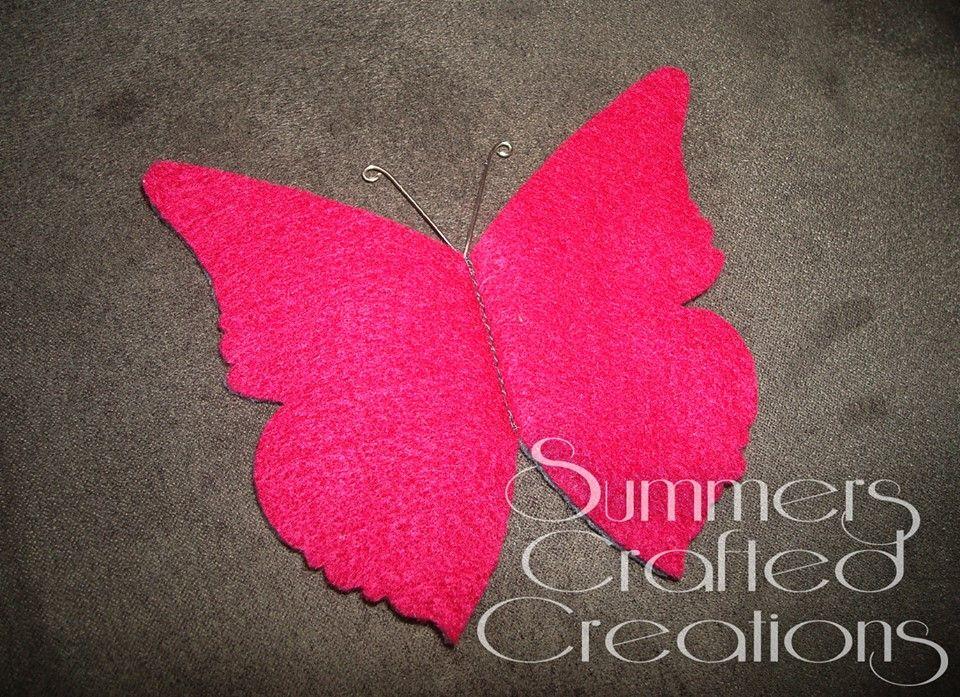 Fancy Butterfly Felt Sewing Needle Holder.