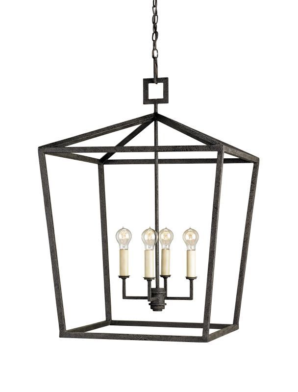 Currey And Company 9871 Denison 5 Light Chandelier In Lantern