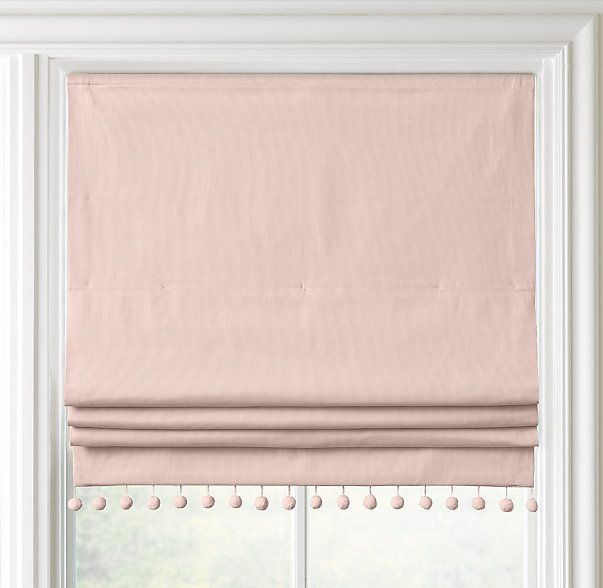 Pom Pom Linen Cotton Roman Shade In 2019 Nursery Window