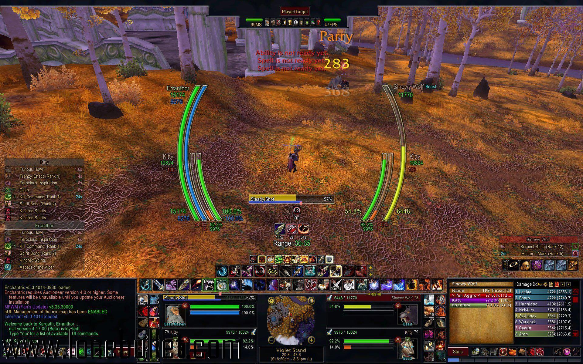 Download Floating Chat Frame mod for World of Warcraft at