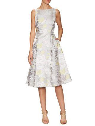 Floral Jacquard Tea Length Dress by Adrianna Papell at Gilt