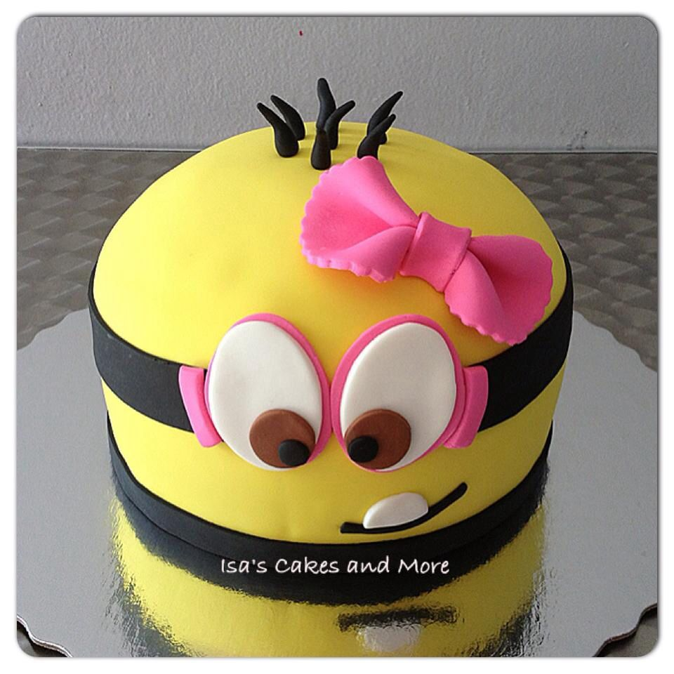 Minion Girl Cake Cakes Pinterest Girl cakes Cake and Girls