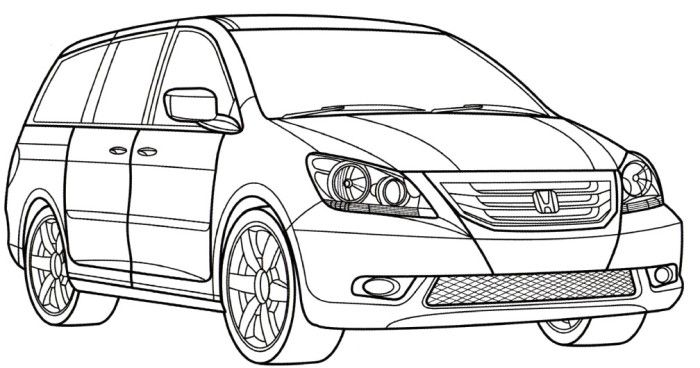 Honda Odyssey Coloring Page Honda Odyssey Cars Coloring Pages