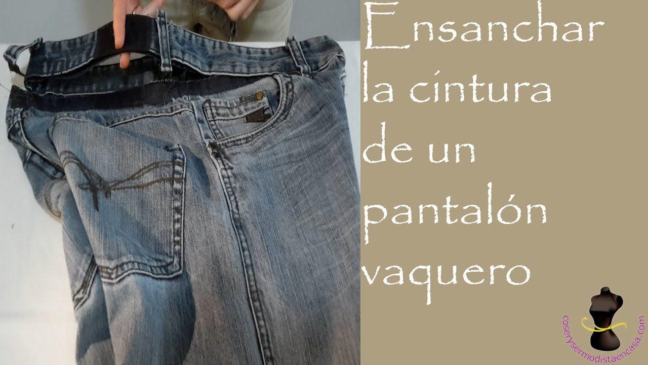 Ensanchar la cintura de un pantalón vaquero - YouTube ...