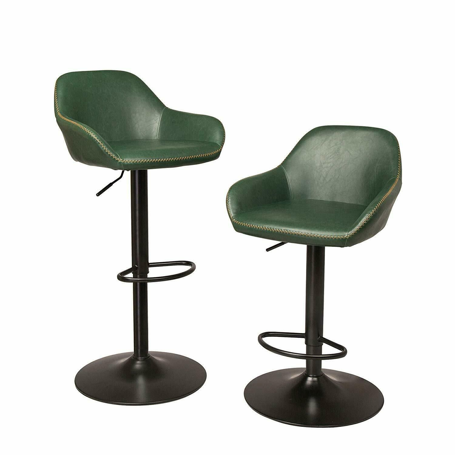 Groovy Glitzhome Bar Stools Pu Leather Adjustable Swivel Bistro Pub Gmtry Best Dining Table And Chair Ideas Images Gmtryco
