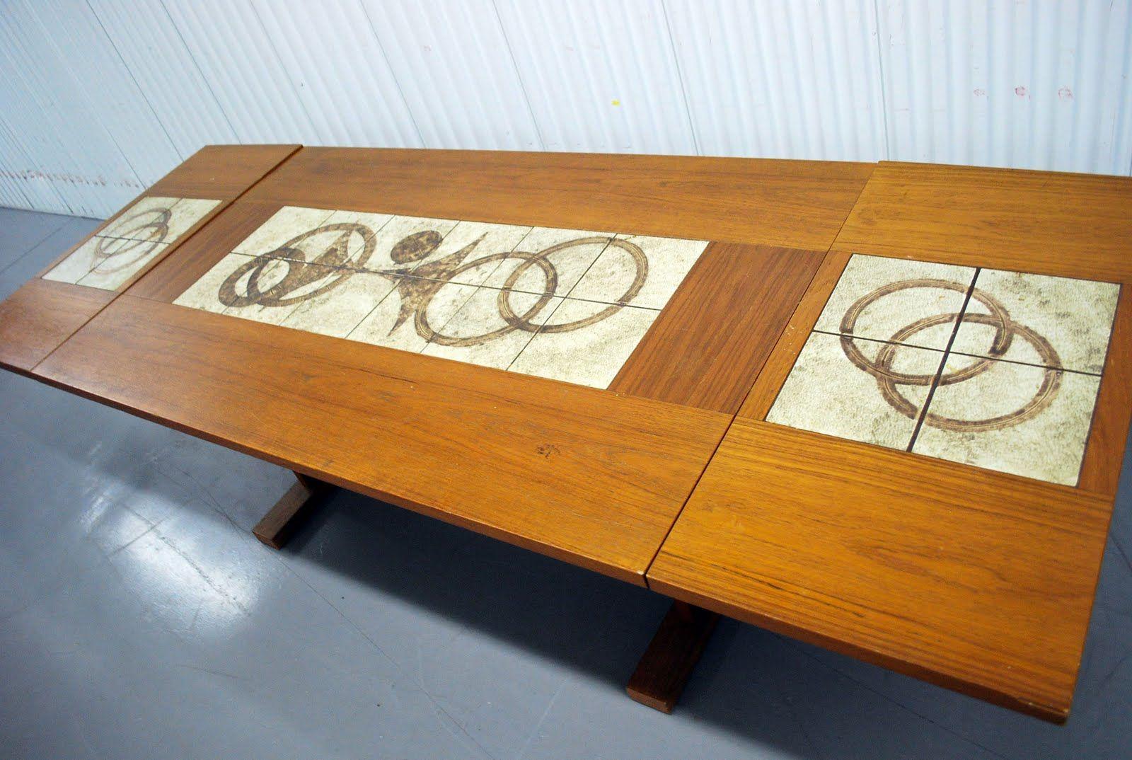Danish Modern Dining Table Junk2funk Mid Century Danish Modern Teak Tile Drop Leaf Dining