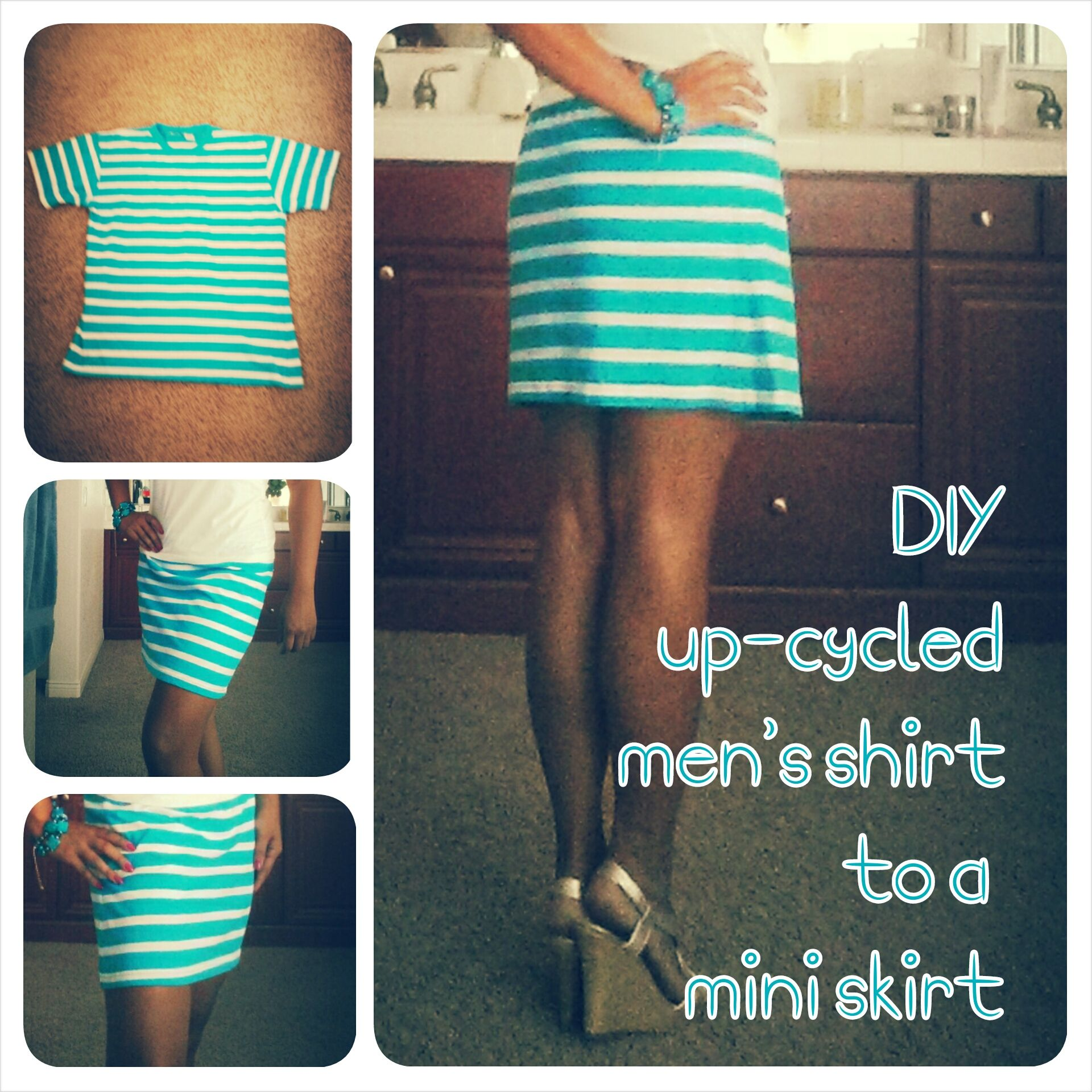 Diy Upcycled Men S T Shirt Into A Mini Skirt Upcycle Clothes Diy Diy Skirt Upcycle Shirt