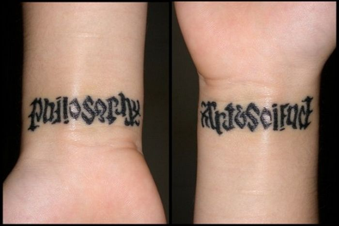 Philosophy Symbol Tattoo Philosophy Art Amp Science Wrist Tattoos For Women Tattoo Lettering Ambigram Tattoo