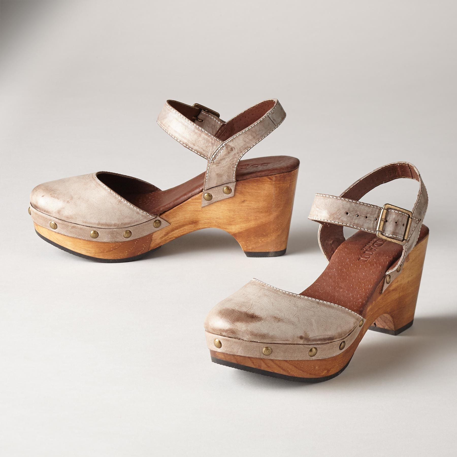 Marika Sandals Mary Jane Meets The Clog In Chestnut Vegetable Tendencies Footbed 2 Strap Brown 41 Tanned Leather With Iconic Ankle And A Polished Wood Platform Wedge