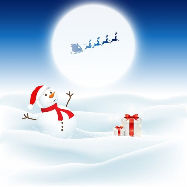 Download Christmas Background With Snowman And Santa Flying Through The Night Sky For Free Santa Claus Drawing Pet Christmas Cards Happy Birthday Card Funny