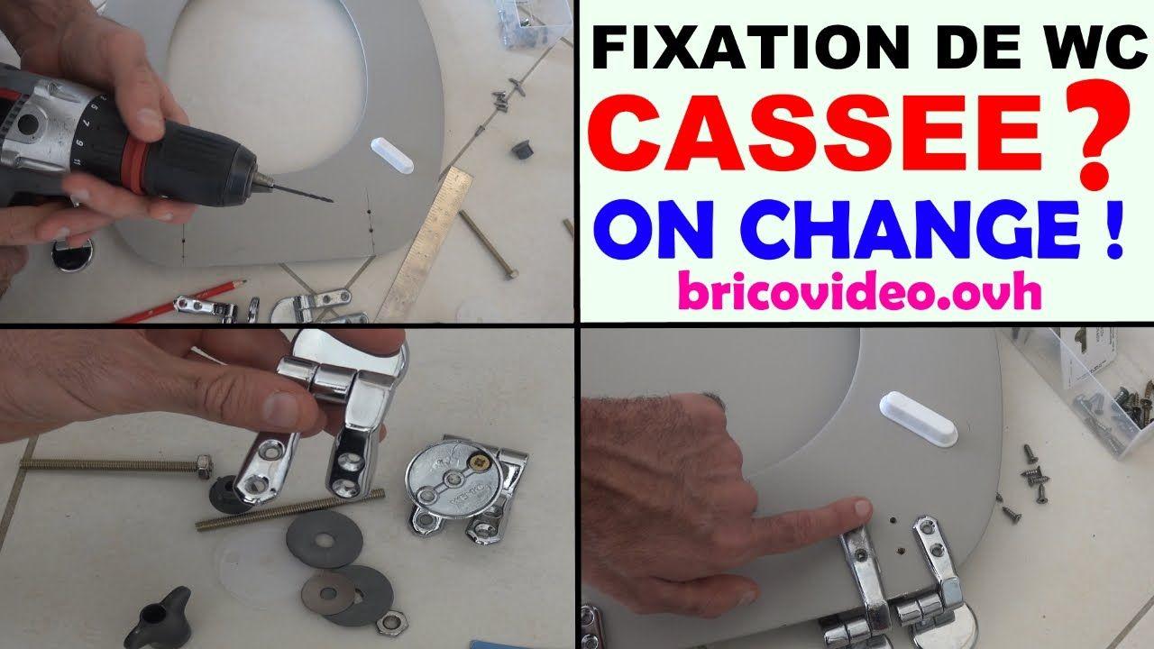 Changer Fixation Abattant De Wc Toilette Cassée Fixation