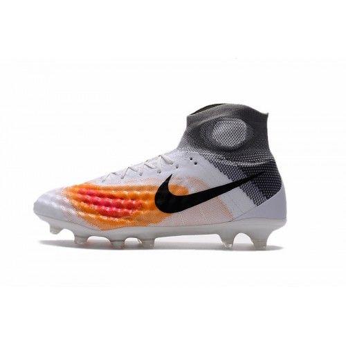 new product bb5c1 714b7 Barato Nike Magista Obra II FG Blanco Gris Naranja Botas De Futbol