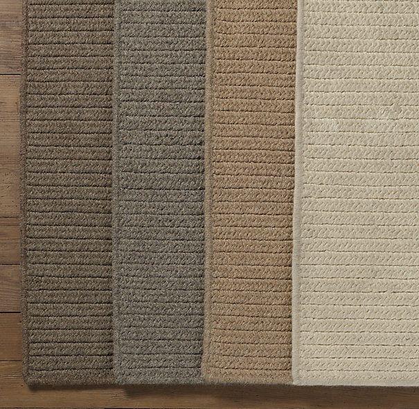 Restoration Hardware Wool Flat Weave Herringbone Rug