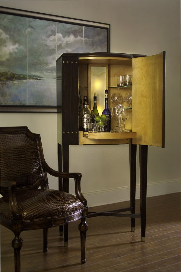 tucked out of the way but right within reach the john richard rascasse bar cabinet is the ultimate home for your spirits