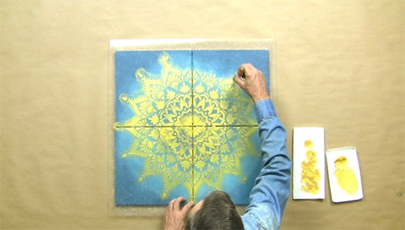 A man tapes together 4 canvases from Michaels—look at his amazing ...