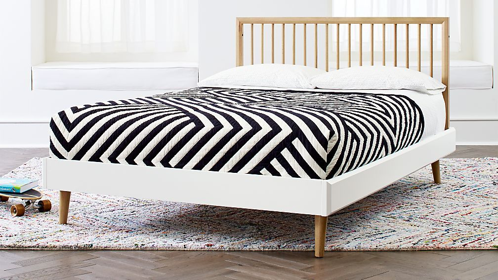 Best Mid Century Spindle Bed Conversion Kit Crate And Barrel 400 x 300