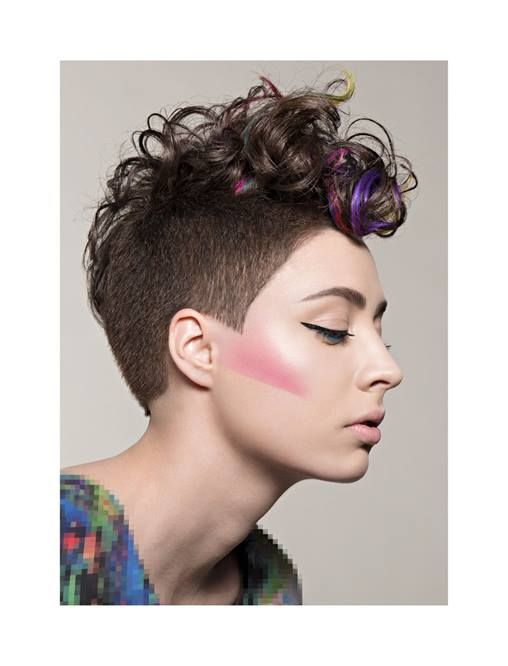 """..the last of eight images... ..ZGAT ACADEMY collection """"PXL""""... ..model_Vilma..I adore the curls.atop the chic mohawk."""