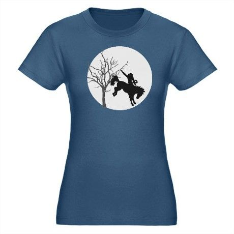 0a8ddb6248721 Rodeo Cowboy Organic Women s Fitted T-Shirt (dark)