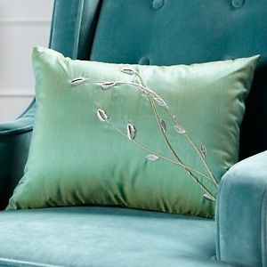 Vern Yip Home Embroidered Bud Accent Pillow $40