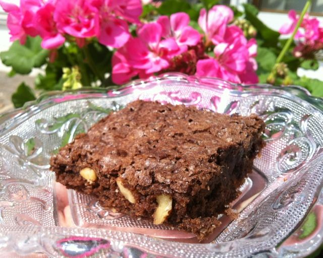 From-scratch brownie recipe. Simple, easy, tender, and addictive!