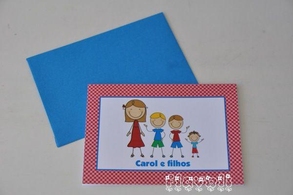 Cartão duplo para família  :: flavoli.net - Papelaria Personalizada :: Contato: (21) 98-836-0113 vendas@flavoli.net