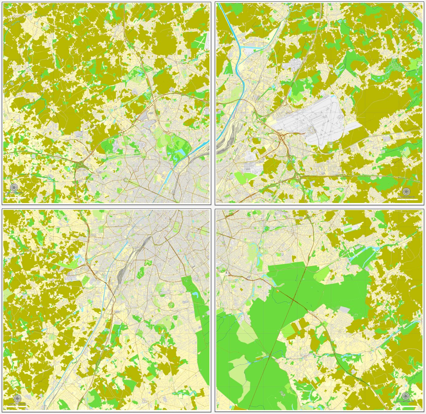 luxembourg city luxembourg printable vector street city plan map full editable adobe pdf luxembourg adobe and project presentation