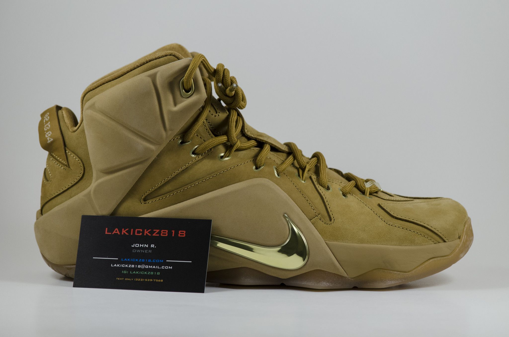 e4485f0991d20 LEBRON XII EXT QS WHEAT Color  Wheat Wheat-Metallic Gold Style Code  744287- 700 Condition  Deadstock Brand New