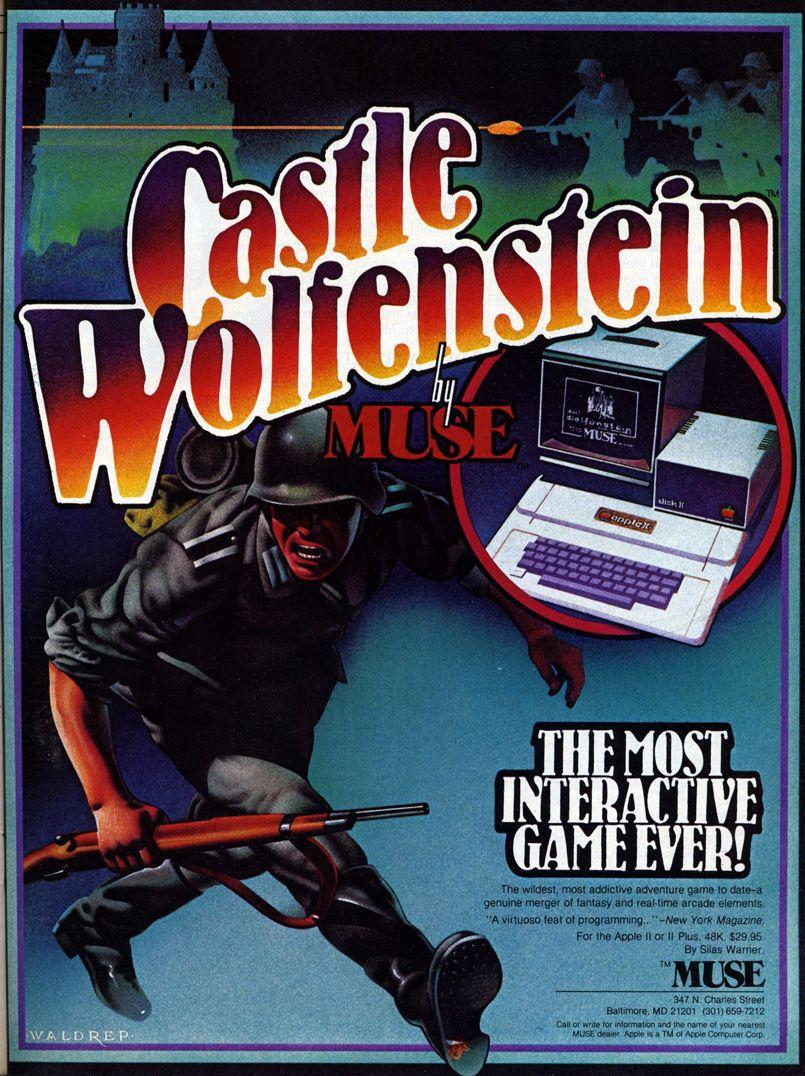 Castle Wolfenstein the original game on Apple !!. I