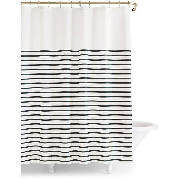 Kate Spade New York Harbor Stripe Shower Curtain 50 Liked On Polyvore Featuring