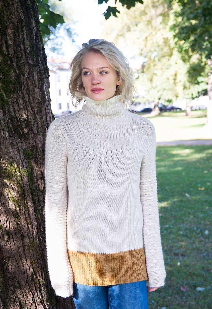 25f90744 Diner genser strikket i baby alpakka. | Vårstrikk | Genser, Ull og Baby