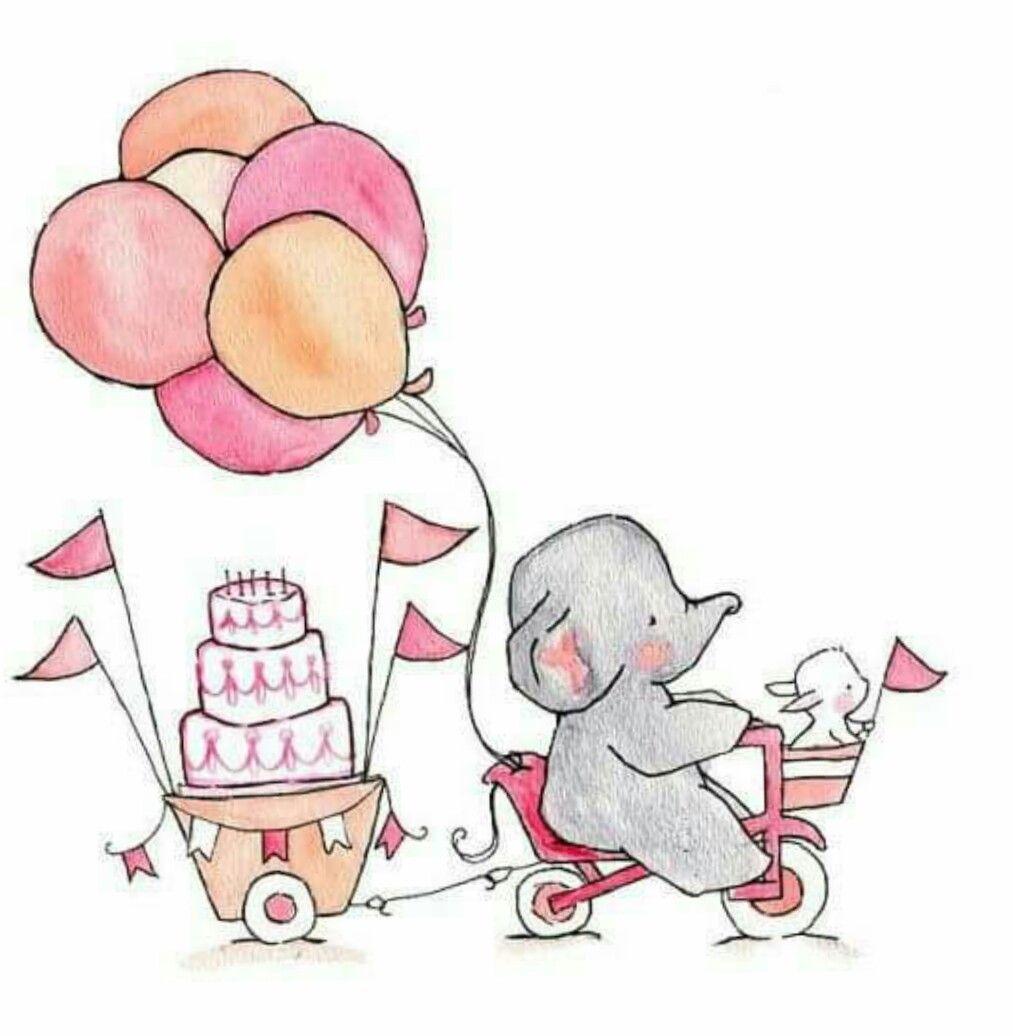 Открытка на день рождения подружке нарисовать