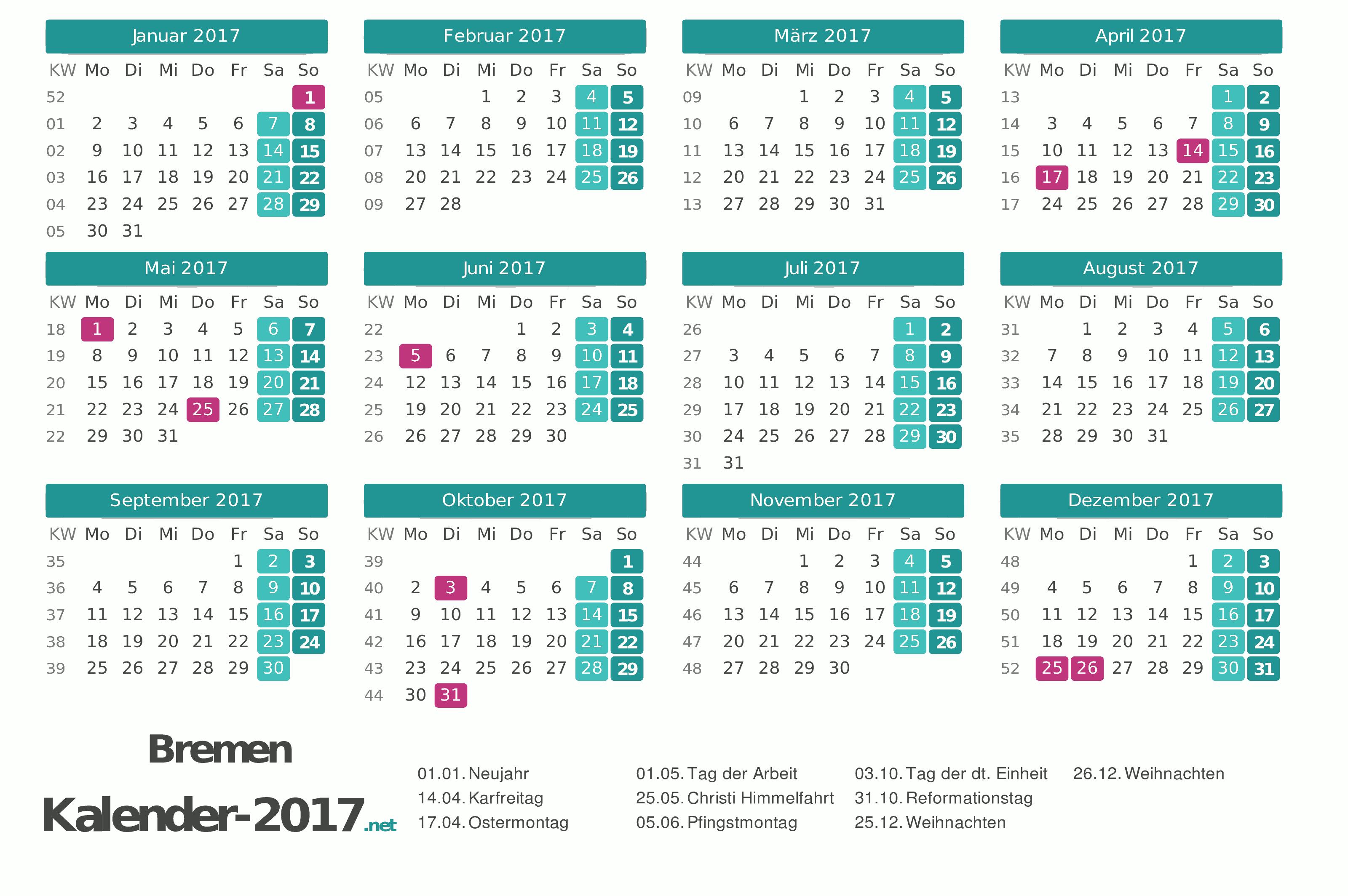 Kalender 2017 für Bremen http://www.kalender-2017.net/feiertage-bremen/