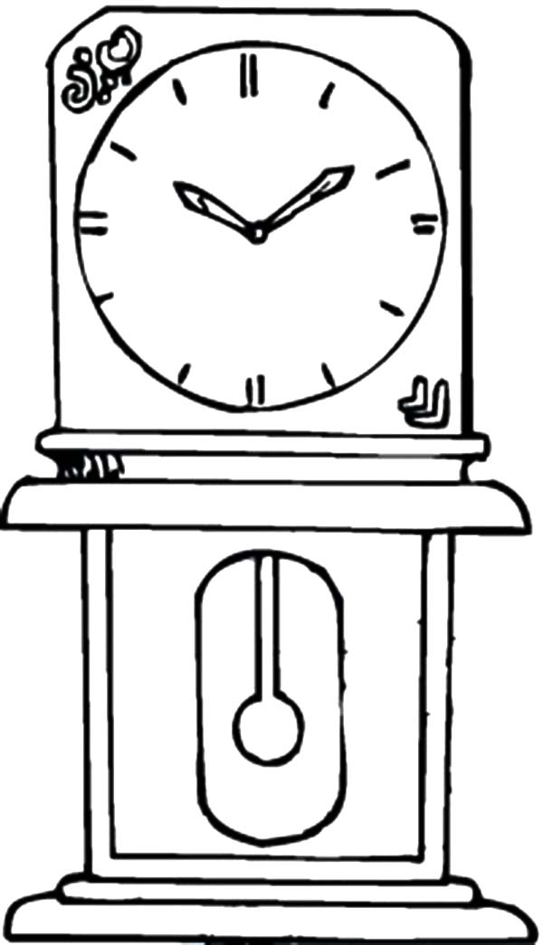 Grandfather In The House Analog Clock Coloring Pages Bulk Color Clock Analog Clock Coloring Pages