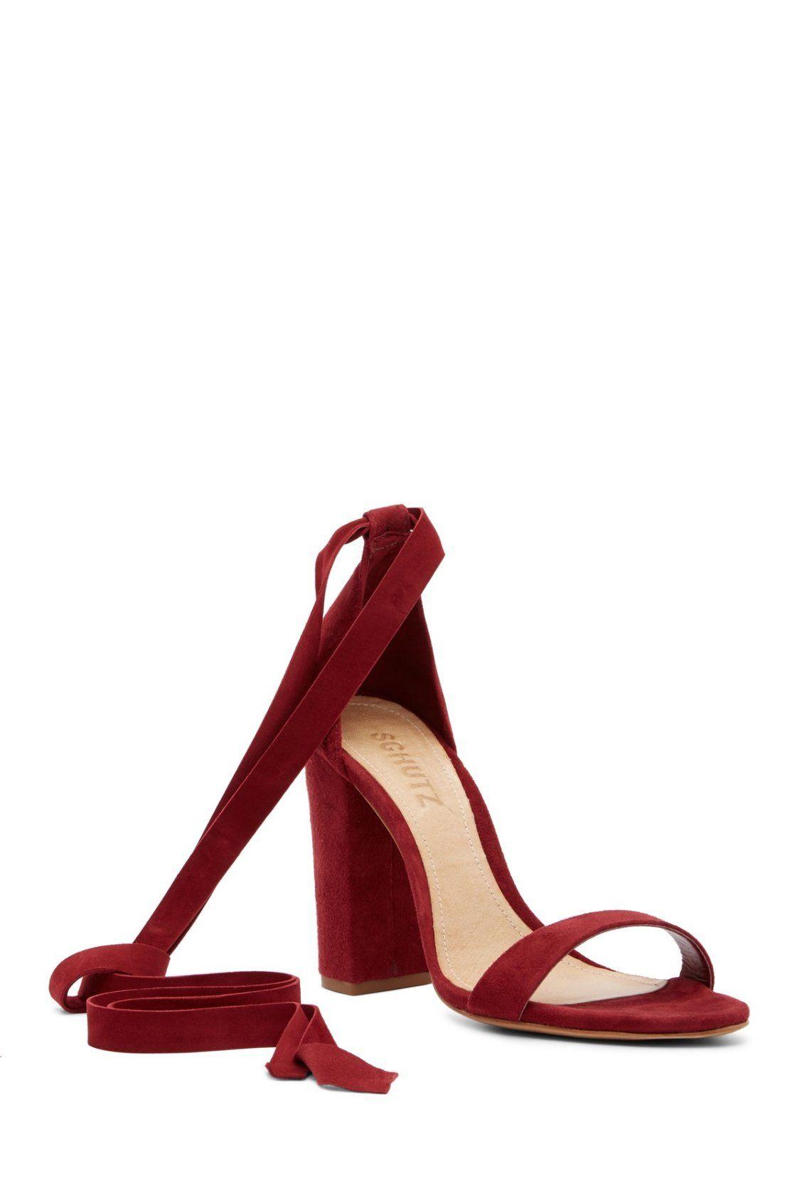 f7c2fe8ebb Holiday Red Schutz Kelma Wraparound Block Heel Sandals