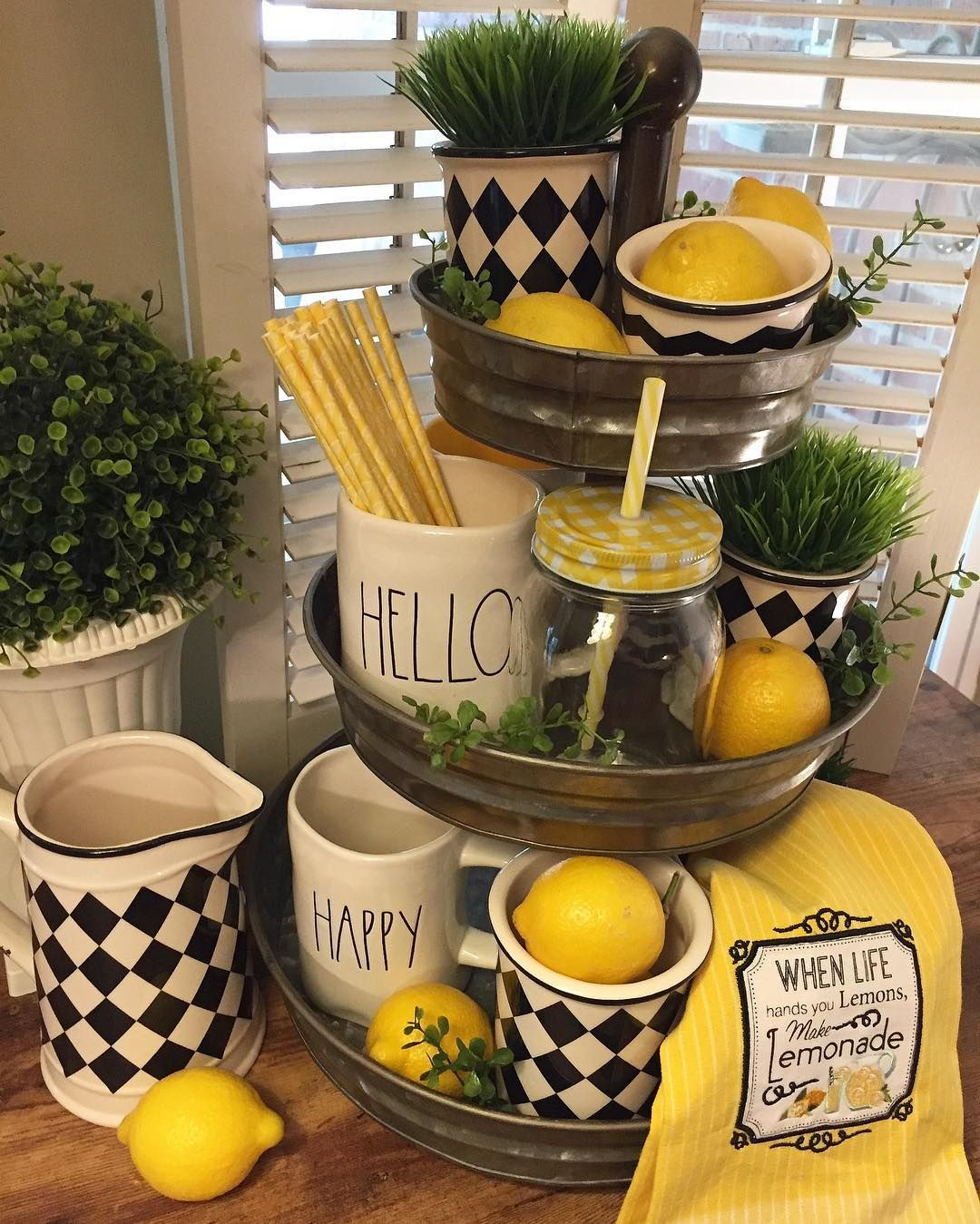 Lemon Kitchen Decor At Target: Pin By Angie Passon On Tiered Trays In 2018