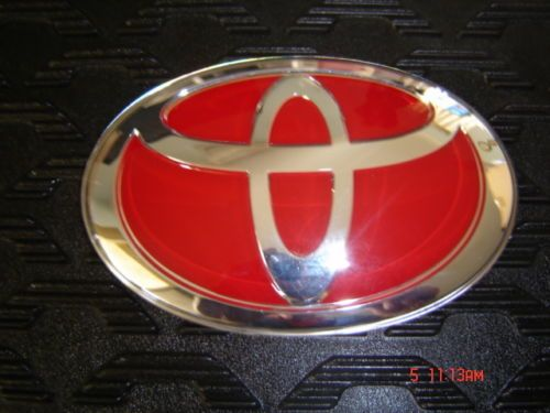 Toyota Emblem Genuine Made In Japan Badge Red 130mm X 88mm No Pins Toyota Emblem Toyota Emblems